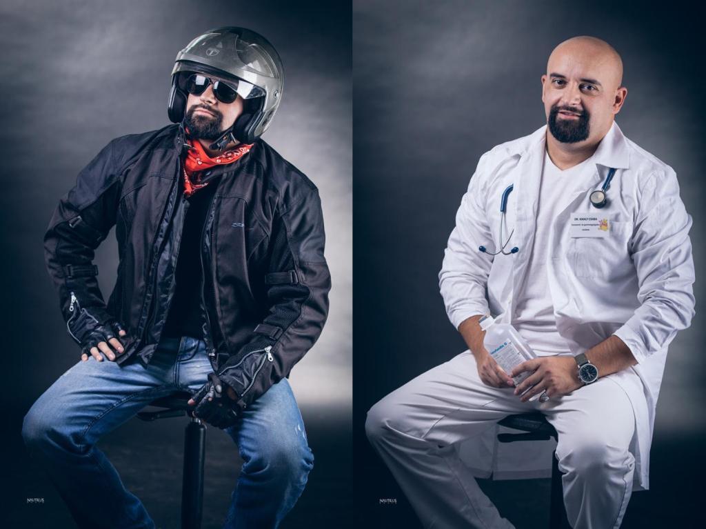 """""""A motoros"""" – dr. Király Csaba, csecsemő- és  gyermekgyógyász rezidens (Fotó: Püspöki Zsolt)"""