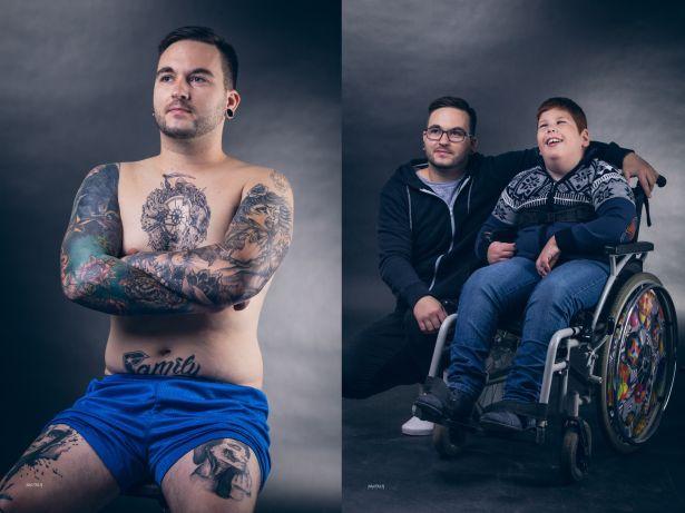 """""""A tetovált"""" – Pintér Gábor, sérült gyerekekkel foglalkozó asszisztens, amatőr költő (Fotó: Püspöki Zsolt)"""