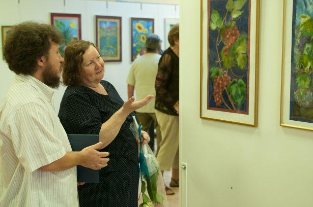 A selyemtechnikában teljesedett ki igazán F. Varga Mária művészete (Fotó: Domján Róbert)