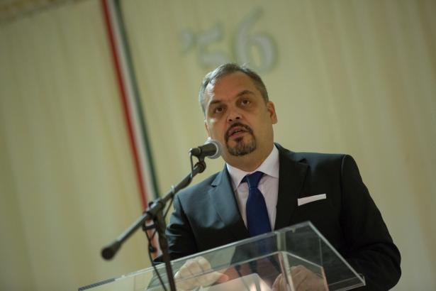 Zalai Mihály közgyűlési elnök mondott beszédet (klikk a képre) Fotó: Rosta Tibor