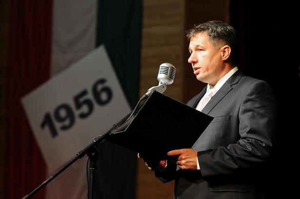 Elekes Lajos osztotta meg gondolatati az 1956-os események évfordulóján (klikk a képre) Fotó: Kecskeméti Krisztina