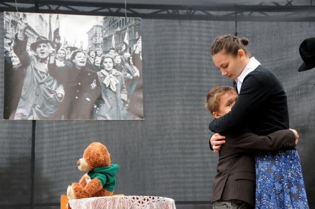 Az Eötvös katolikus iskola növendékei adtak ünnepi műsort Fotó: Kecskeméti Krisztina