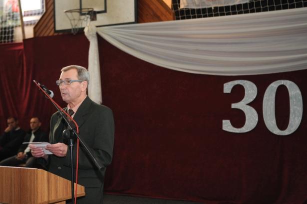 Bicsánszky József igazgató méltatta az elmúlt 30 év eredményeit (klikk a képre) Fotó: Kecskeméti Krisztina