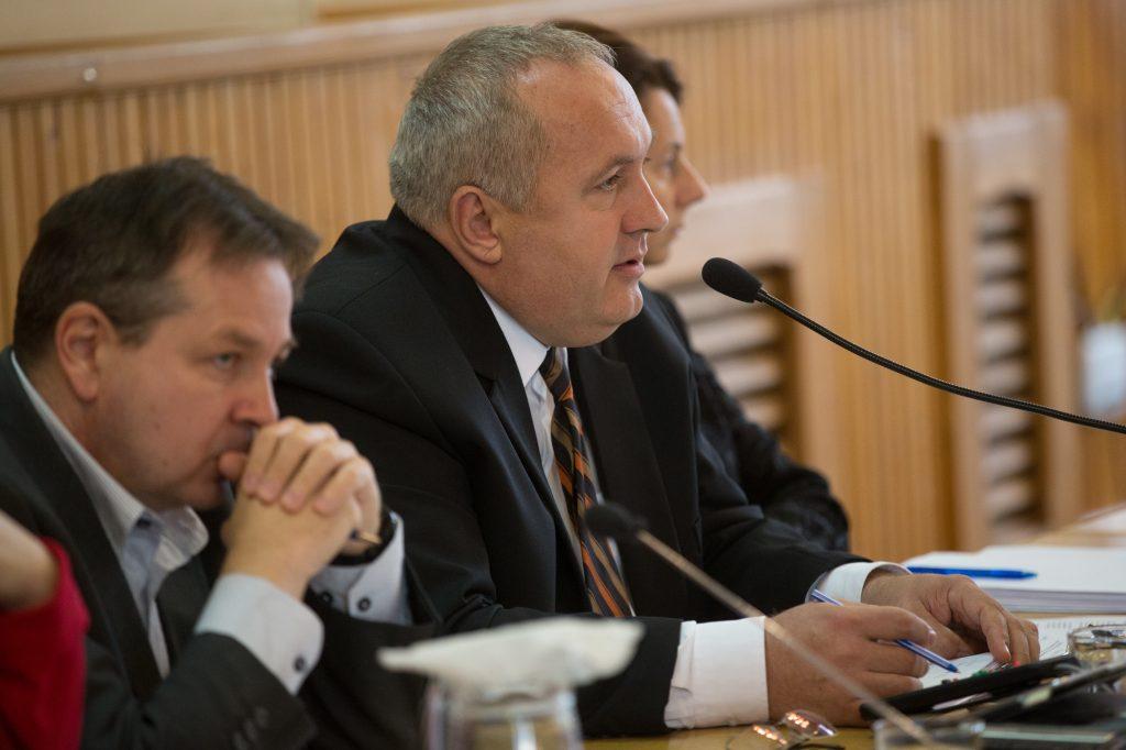 Dávid Zoltán polgármester a kórházi fejlesztések fontosságára is felhívta a figyelmet (Fotó: Rosta Tibor)