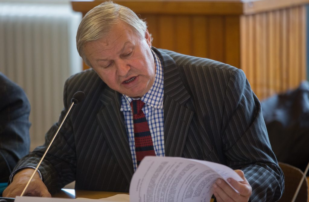 Fetser János MSZP-s frakcióvezető (Fotó: Rosta Tibor)