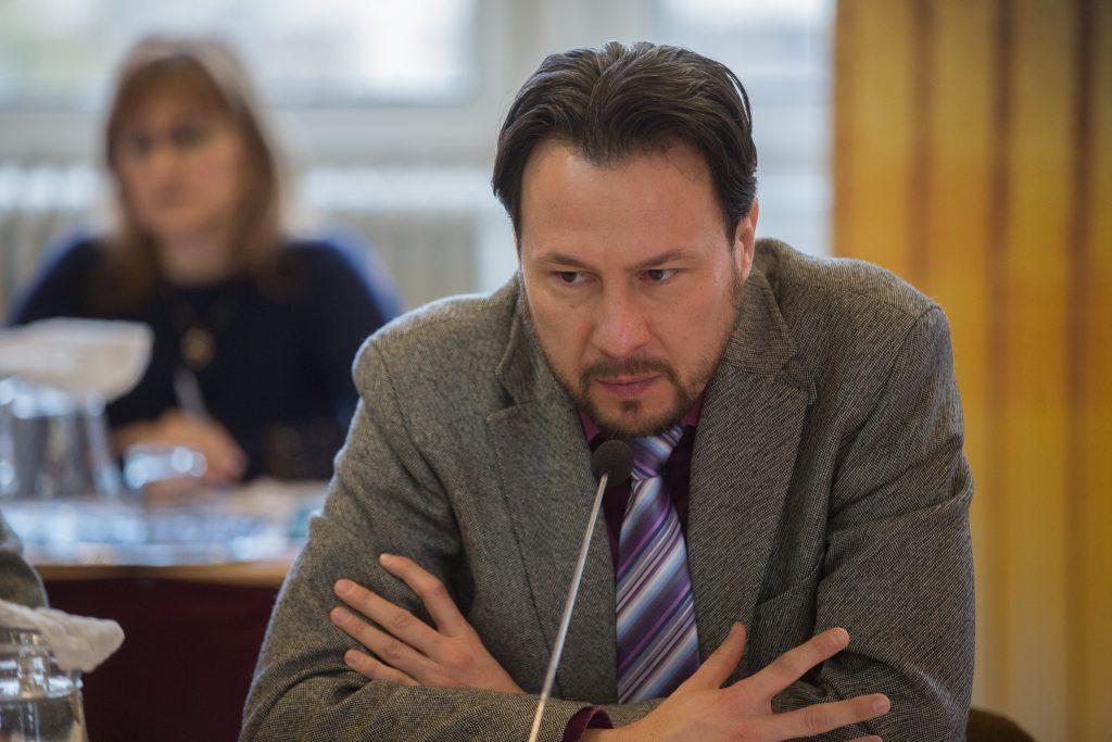 Dr. Szabó Ervin jobbikos képviselő felszólalása (Fotó: Rosta Tibor)