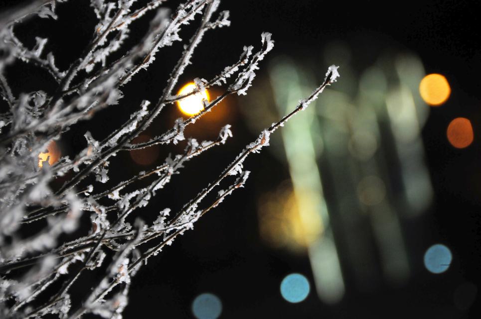 Csípős hidegben lobogtak az adventi gyertyák (Fotó: Kecskeméti Krisztina)