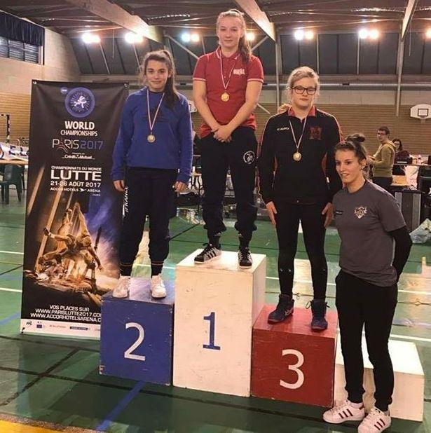 A nemzetközi versenyen nem talált legyőzőre Szél Anna (Fotó : Facebook Orosházi Spartacus Birkózó Klub)