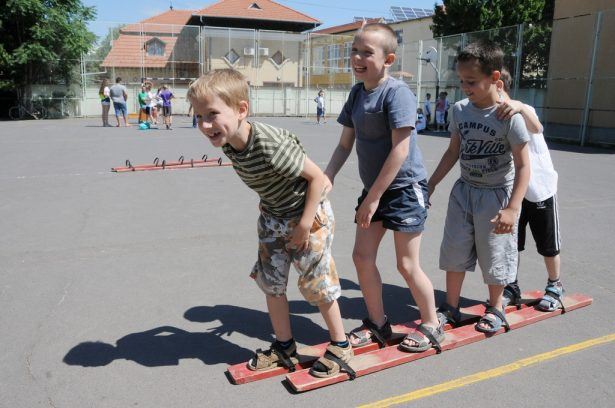 Számos program várt a gyerekekre, láthatóan élvezték (klikk a képre) Fotó: Kecskeméti Krisztina
