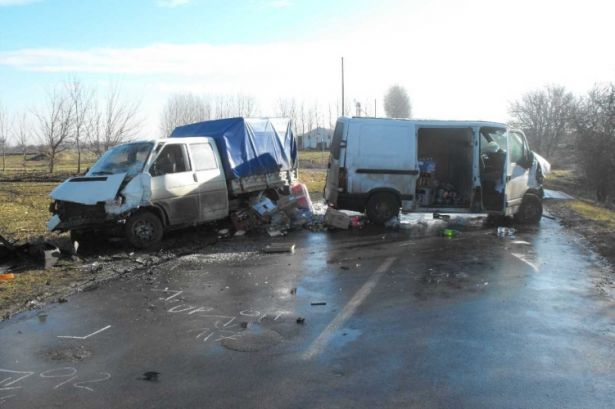 Egy korábbi baleset Tótkomlósnál (Fotó: OrosCafe)