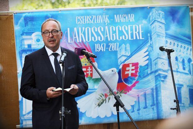 Németh Zsolt: a magyar és a szlovák testvérnép (Fotó: Ignácz Bence)