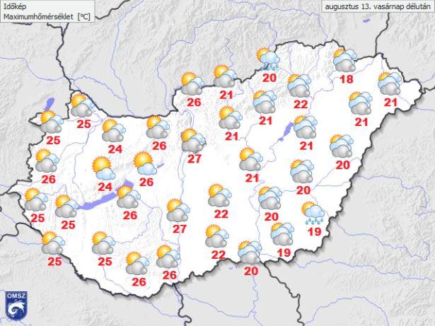 A hőmérséklet alakulása (Forrás: Dél-Alföld Meteorológia)