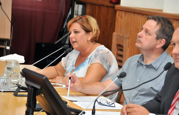 Fejes Róbertné elmondta, hogy augusztus 20-a az államalapítás ünnepe (klikk a képre) Fotó: Rajki Judit