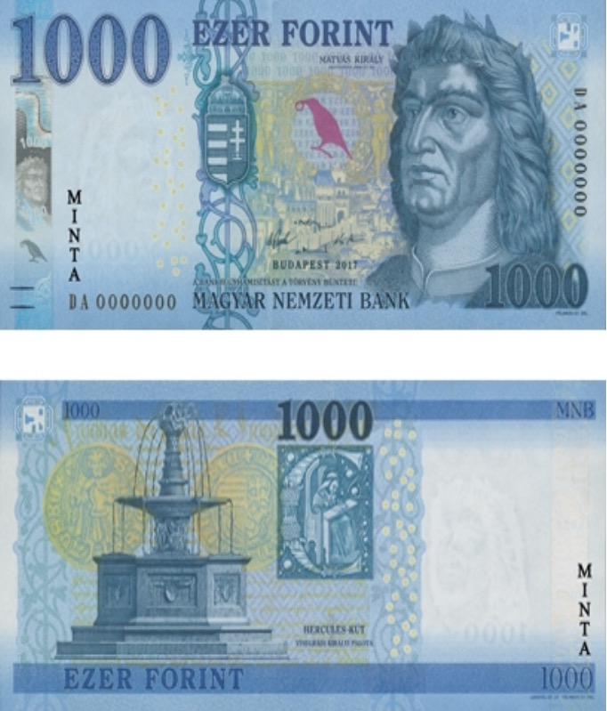 Az új ezer forintos (Forrás: MNB)
