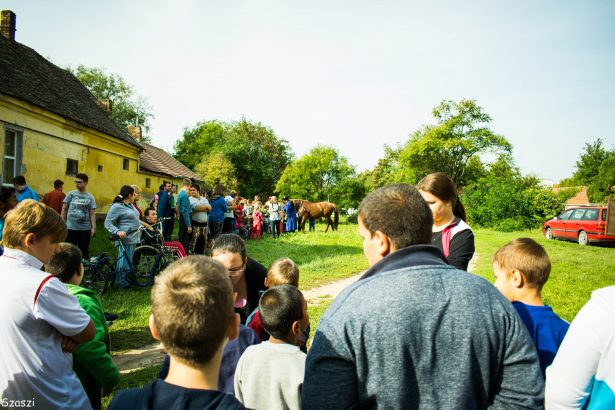 Csikós bemutatót is láthattak a diákok (Fotó: iskola)