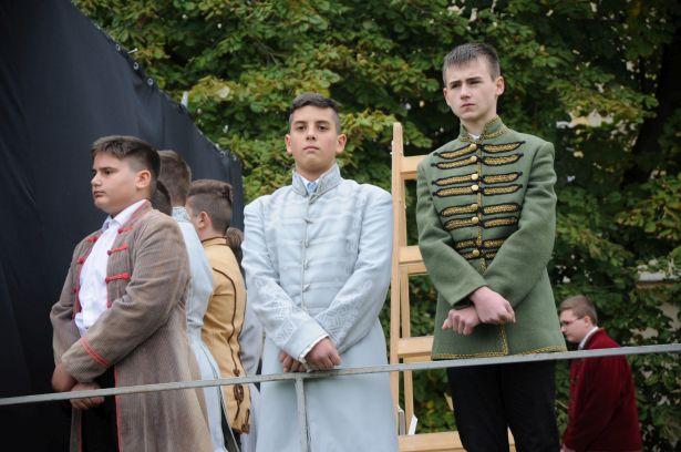 Az Eötvös iskola tanulói a tábornokok bőrébe bújtak (Fotó: Kecskeméti Krisztina)