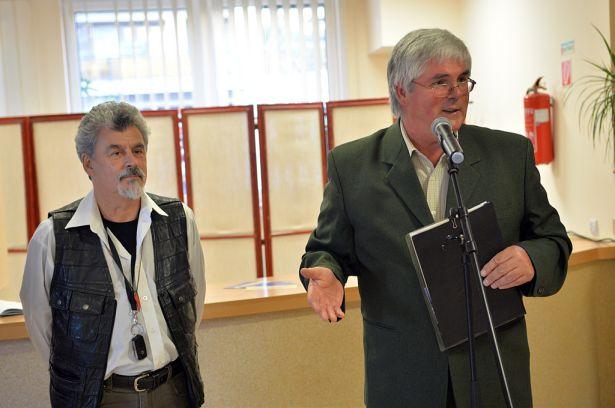 Aranyi Sándort (b) és Bodrogi Bélát évtizedes barátság köti össze (Fotó : Rajki Judit)